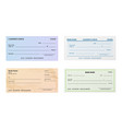 check template blank bank cheque with guilloche vector image vector image