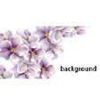 cherry flowers wedding card watercolor vector image vector image