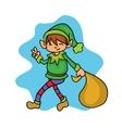 Christmas collection elf helper cartoon vector image vector image