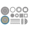 collection elements round pattern square frames vector image vector image