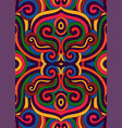 colorful ethnic ornament vector image vector image