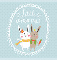cotton tails vector image
