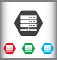 Database server icon sign icon storage