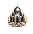 eid mubarak celebration islam ramadan kareem vector image