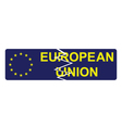 European Union broken sign vector image vector image