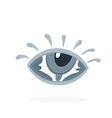 eye letters in eye vector image