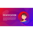 face id of young woman vector image