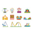 fairground games playgrounds and amusement park vector image vector image