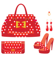 Female bag purse and shoes on a heel vector | Price: 1 Credit (USD $1)