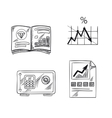 Finance investment and banking sketch icons vector image vector image