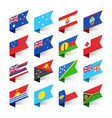 flags world oceania vector image