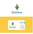 flat corn logo and visiting card template vector image