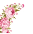 Floral garland template vector image vector image
