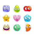 funny cartoon candy characters vector image vector image