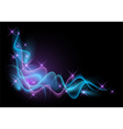 Glowing background with smoke vector image vector image