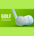 golf concept banner cartoon style vector image vector image