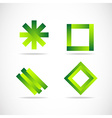Green logo elements icon set vector image vector image