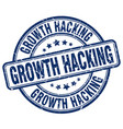 growth hacking blue grunge stamp vector image vector image