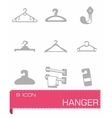 Hanger icon set vector image vector image