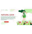 horizontal flat banner natural look fashion show vector image