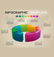 infographics options template with 3d diagram vector image
