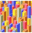 isometric seamless town vector image vector image
