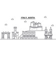 italy aosta architecture line skyline vector image vector image