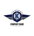 letter k shield logo vector image vector image