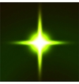 Light flare green effect vector image vector image