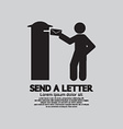 Man Sending A Letter Graphic Symbol vector image vector image