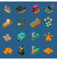 Money Manufacturing Isometric Icons vector image vector image
