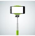 Monopod Selfie Front vector image vector image