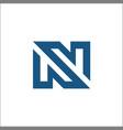 n logo abstract vector image