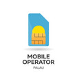 palau mobile operator sim card with flag vector image vector image