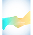Paper template with blue orange abstract stripe vector image