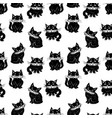 pattern of the domestic black cats vector image vector image