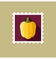 Pepper flat stamp with long shadow vector image vector image