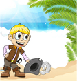 Pirate on a tropical island vector image vector image