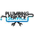 plumbing repair service design vector image vector image