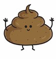 Poop Cute Cartoon vector image vector image