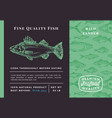 premium quality pikeperch abstract vector image