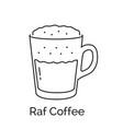raf coffee vector image