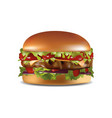 realistic large size hamberger vector image