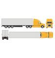 realistic semi trailer truck vector image