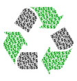 recycle arrows composition of dollar and dots vector image