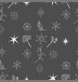 seamless pattern with christmas snowflakes vector image vector image