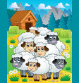 sheep theme image 4 vector image vector image