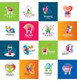 shopping logo vector image vector image