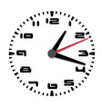 simple black and white clock sixth edition vector image vector image