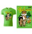 t-shirt design with cartoon animals